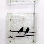 bird on a wire hanging art