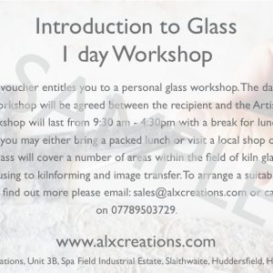 1 day into to glass workshop voucher SAMPLE