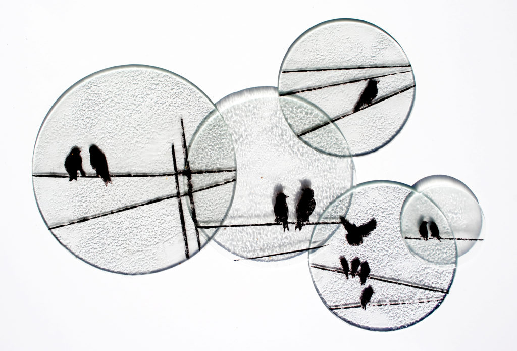 alex blakey interior glass art birds